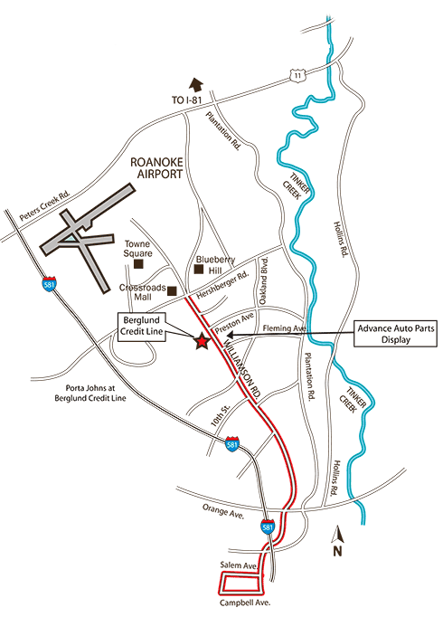 Cruise Map for Williamson Road