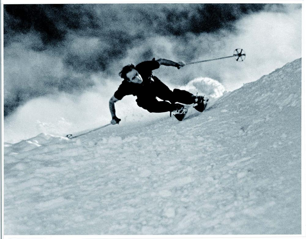 Dick Durrance's iconic style and speed are still talked about in Aspen. Photo: Aspen Historical Society