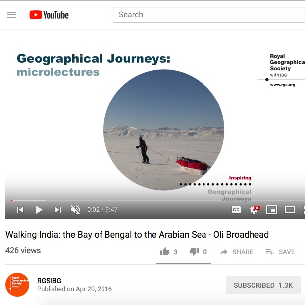 RGS Microlectures 2016: Geographical Journeys