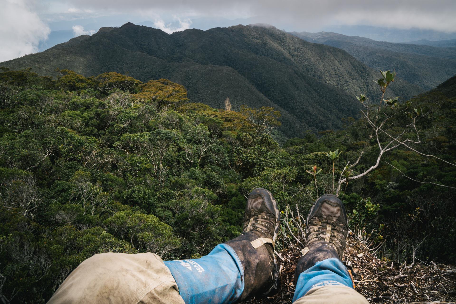 Descending from Mount Lembu