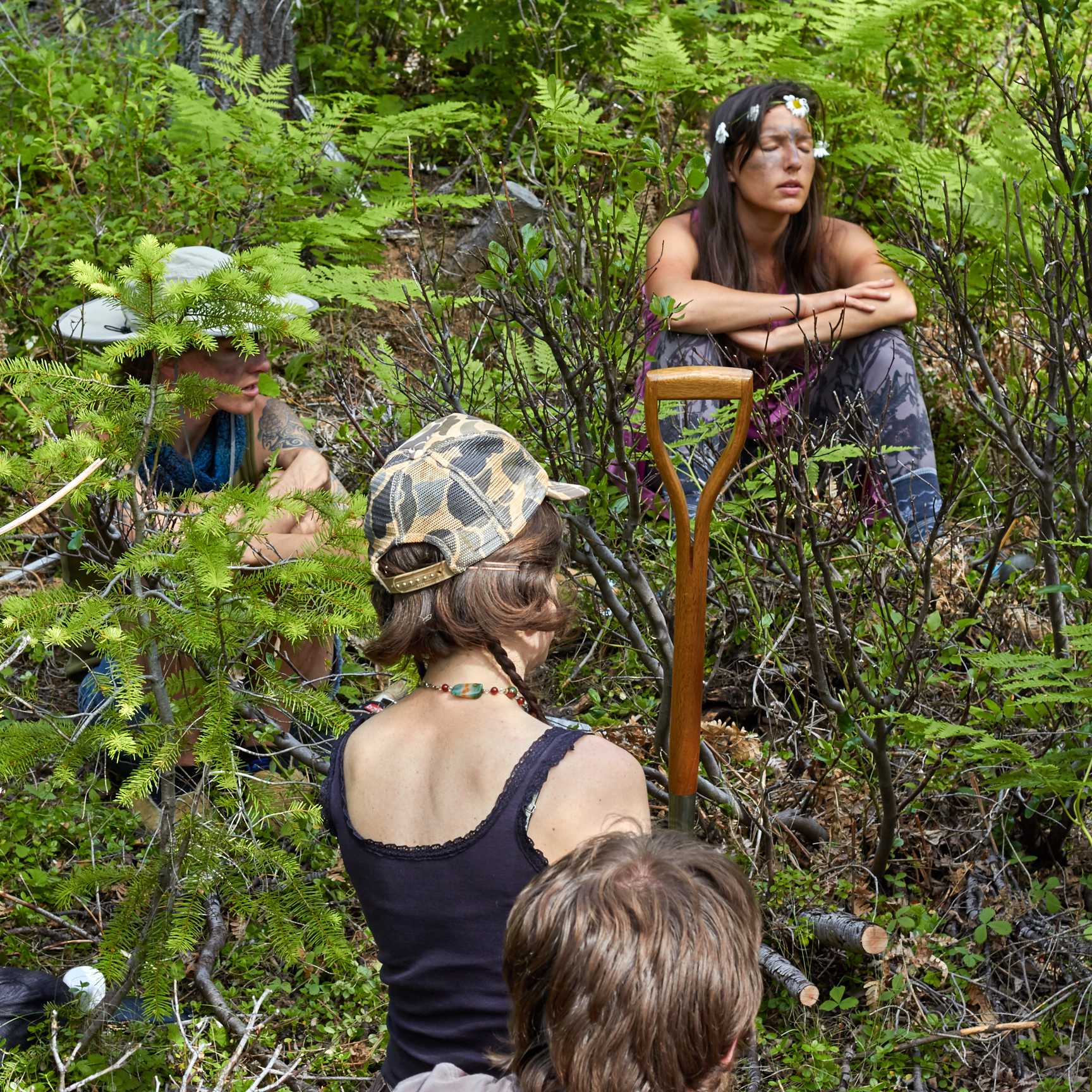 Wildcrafters contemplate a potential red root harvest.© Scott Kloos. 2015. All Rights Reserved.