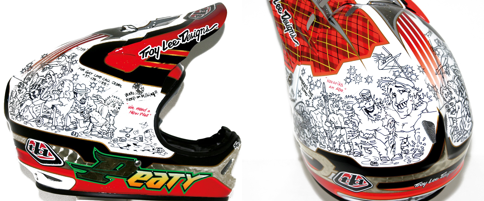 One of the many Troy Lee helmets on display in 'Bikes and Beers'