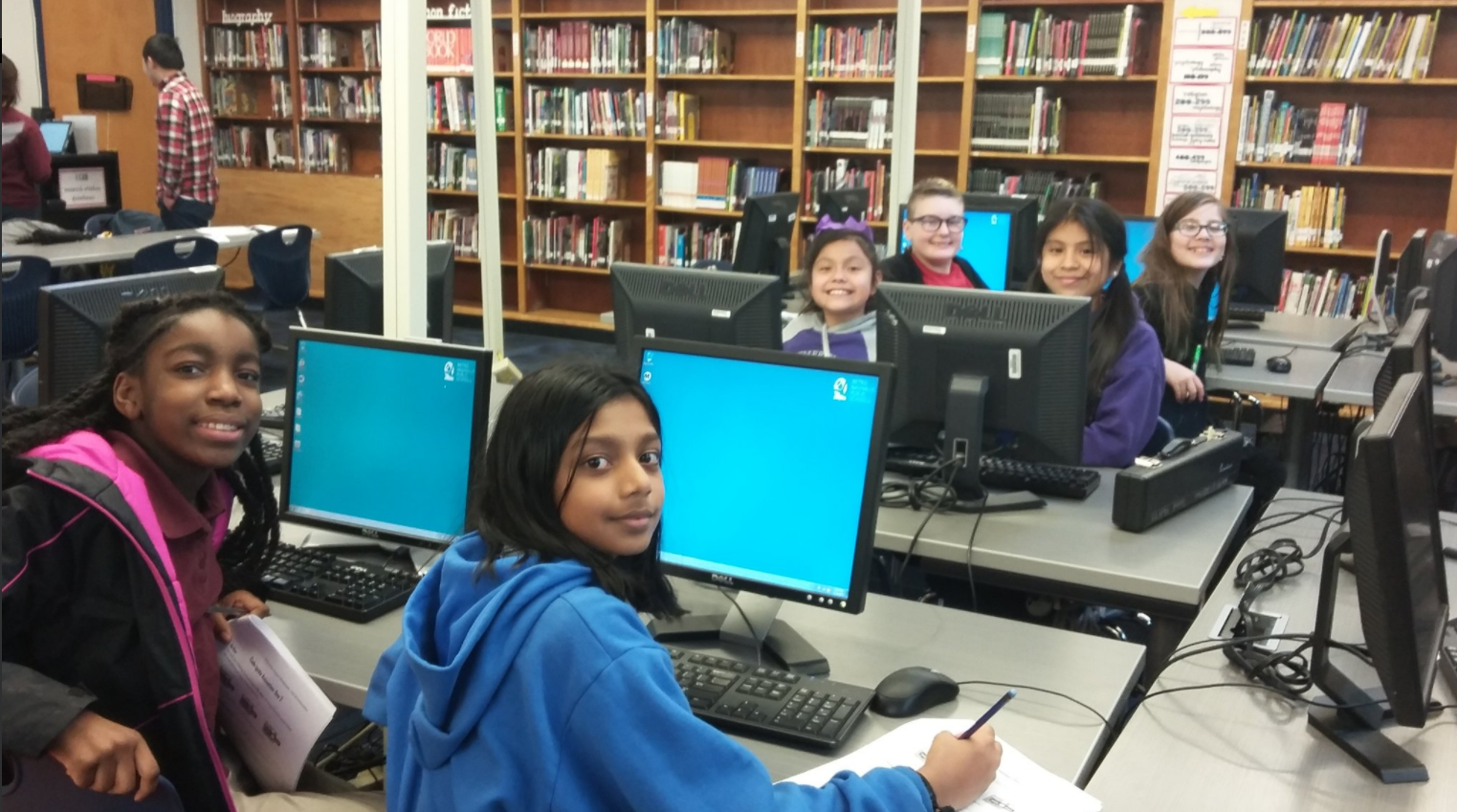 Code Ignite at Rose Park Middle School during the Spring 2017 semester