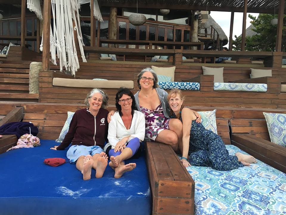 Sara, Indy, Jen and Sandy in Tulum 2017 Women's Retreat