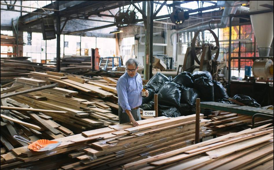 Ramsey with an order of flooring ready to be shipped out. This picture comes from a lovely photoessay on Savannah businesses by Wesley Verhoeve which you may read here:  http://essays.oneofmany.co/savannah