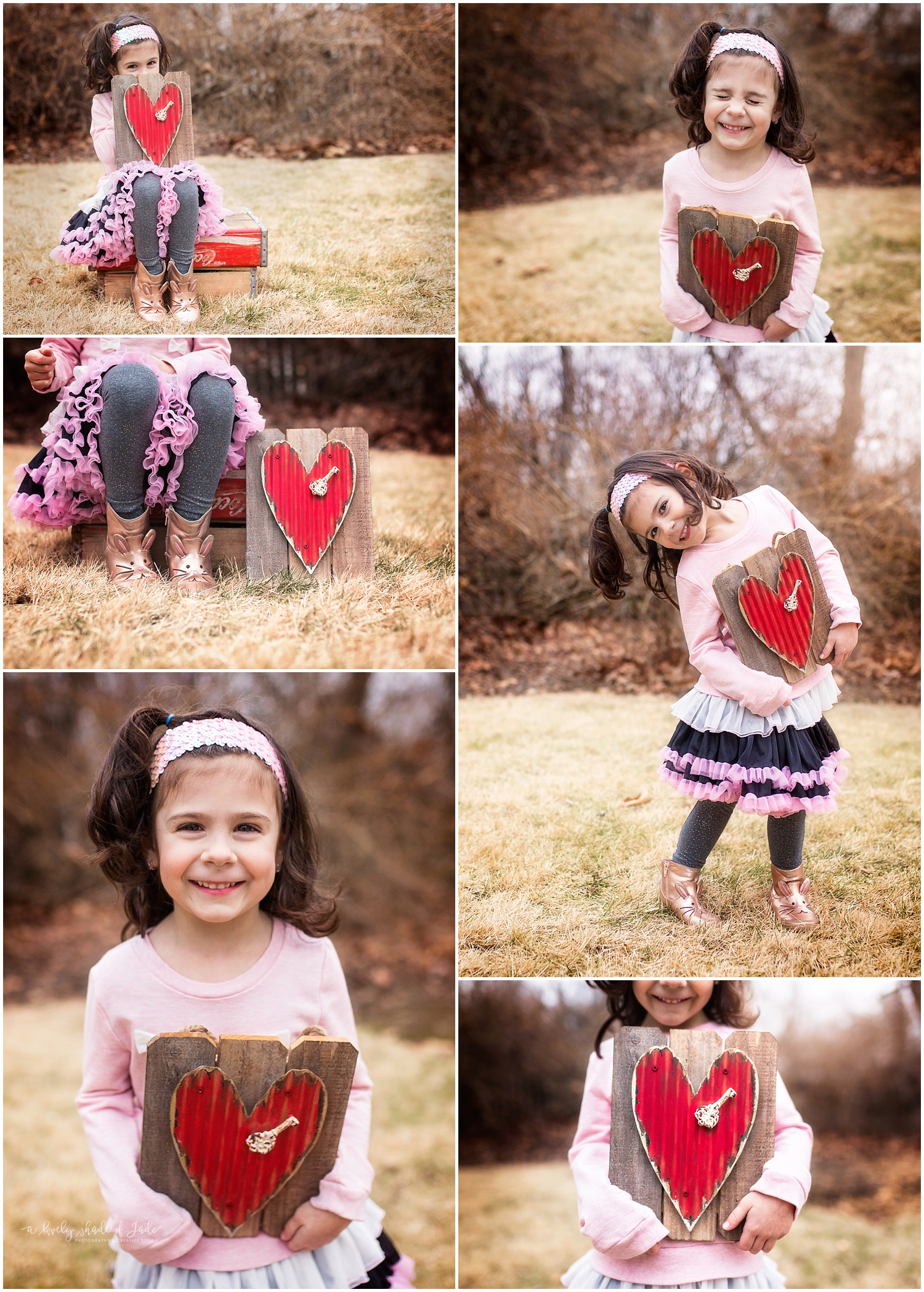 Above is a little sample of an outdoor Valentine mini session. These were taken in my backyard so the location will be different but will give you an idea.