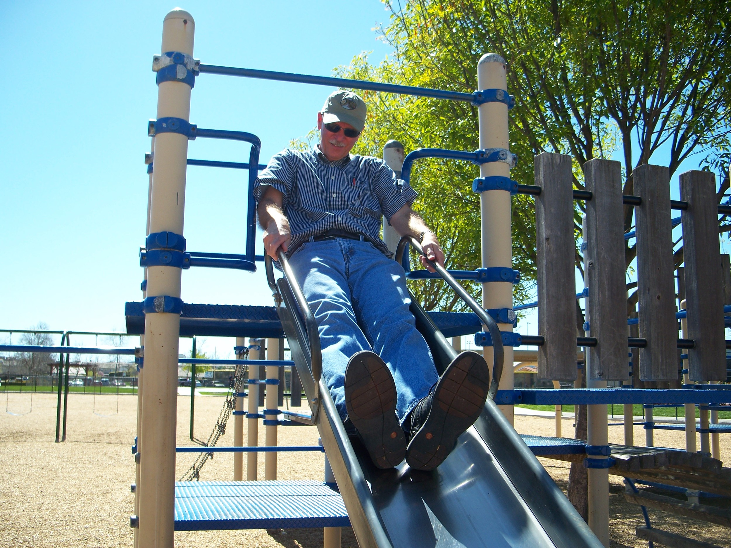 John at playground in Metafe