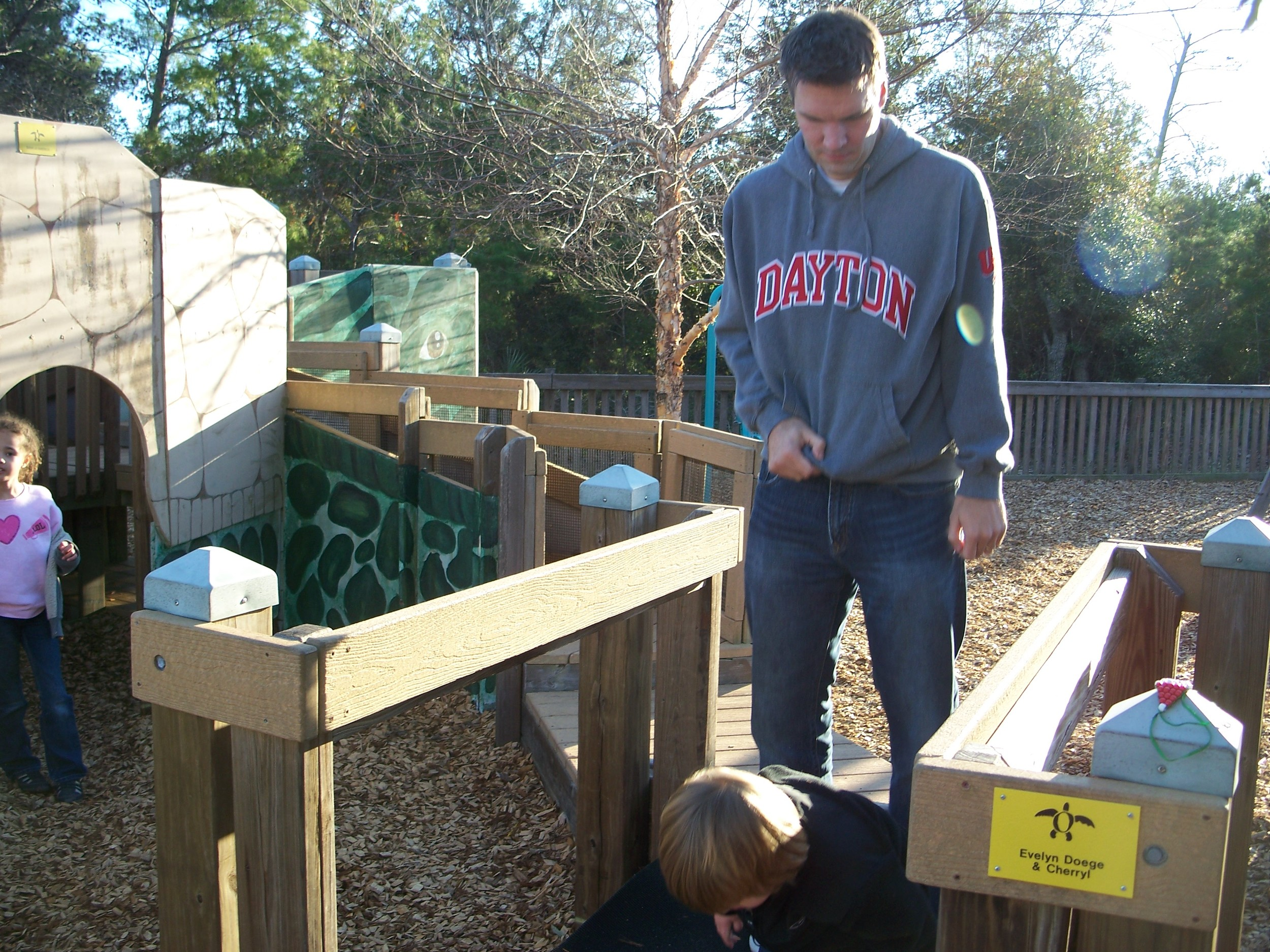 Jeremy at playground in Pensacola