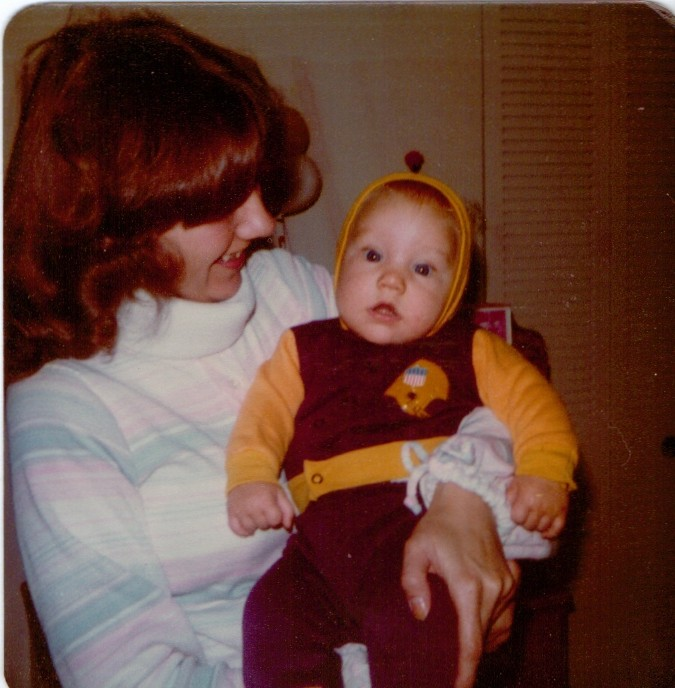 baby Jeremy and me
