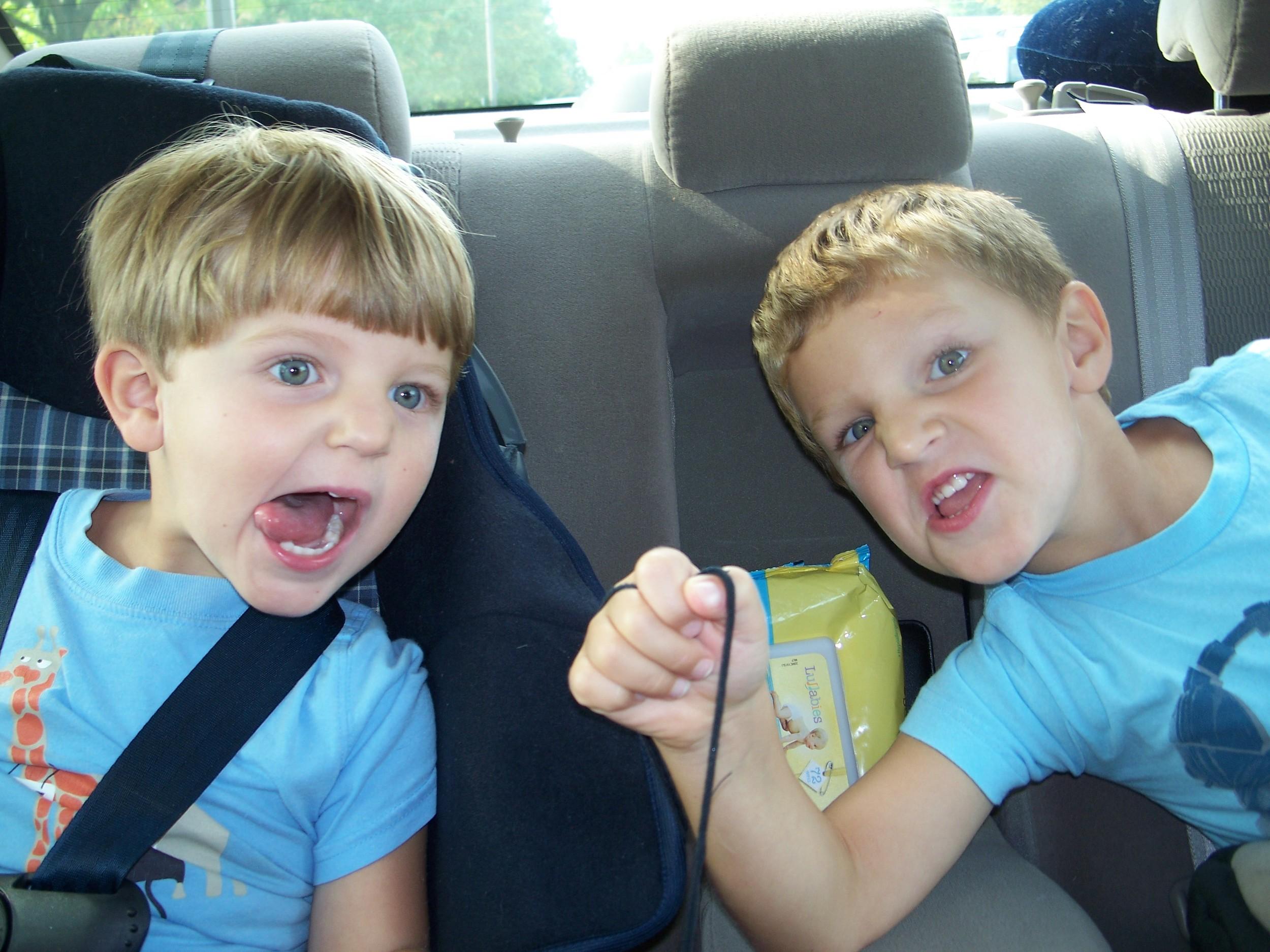 Evan & carter in car