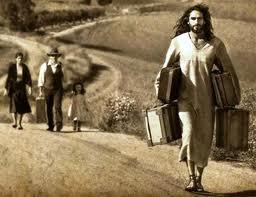 Jesus carrying burdens