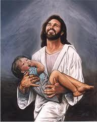 Jesus carrying