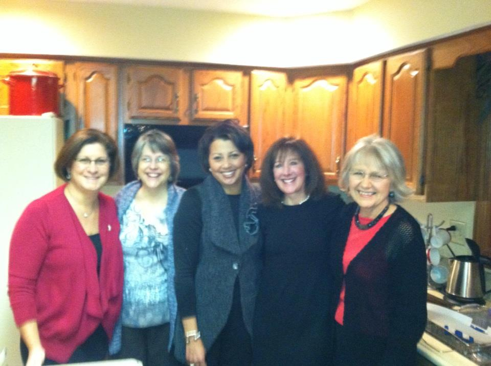 girlfriends at kinship xmas party 2012 (Penny is the 2nd from the right)