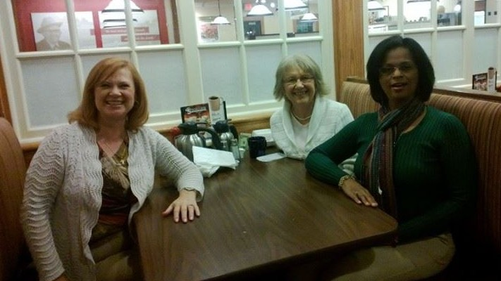 Julie, Robin and me at BE