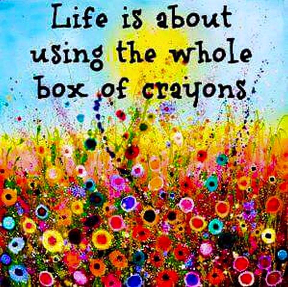Living with the whole box of crayons