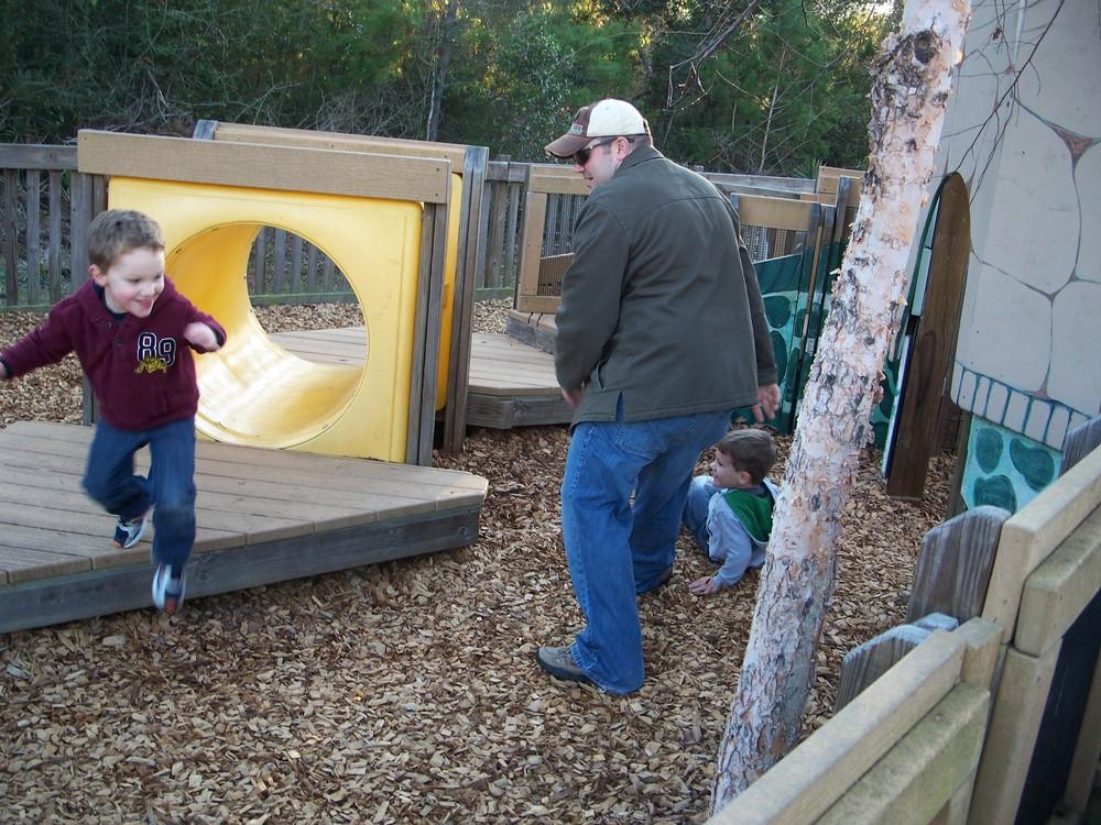 Nate at playground in Pensacola