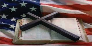 cross, bible, American flag