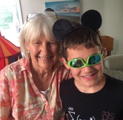 Me and my  Biblical scholar  grandson Kaden ... just for fun!