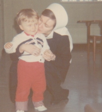 Me as a novice (2nd year) with my baby brother Paul, born Sept 1966