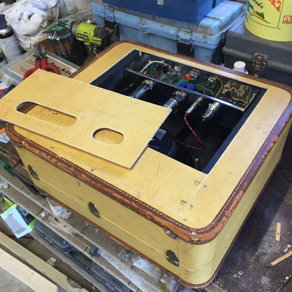 Installing the back panels.