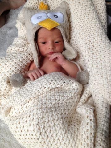 Baby Owen born at Mt. Sinai Birthing Center in Manhattan