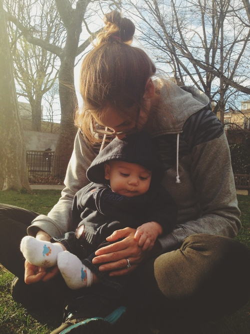 Jessica with Baby Ethan in Philadelphia