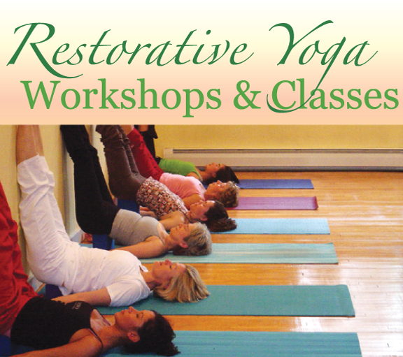 In addition to our 2 hour workshops, we offer Restorative Yoga Class on Fridays 6-7pm