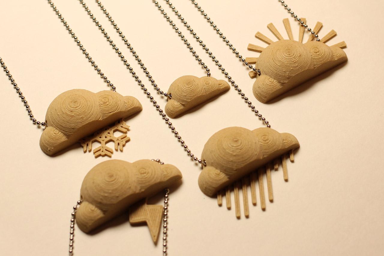 Cloud necklaces