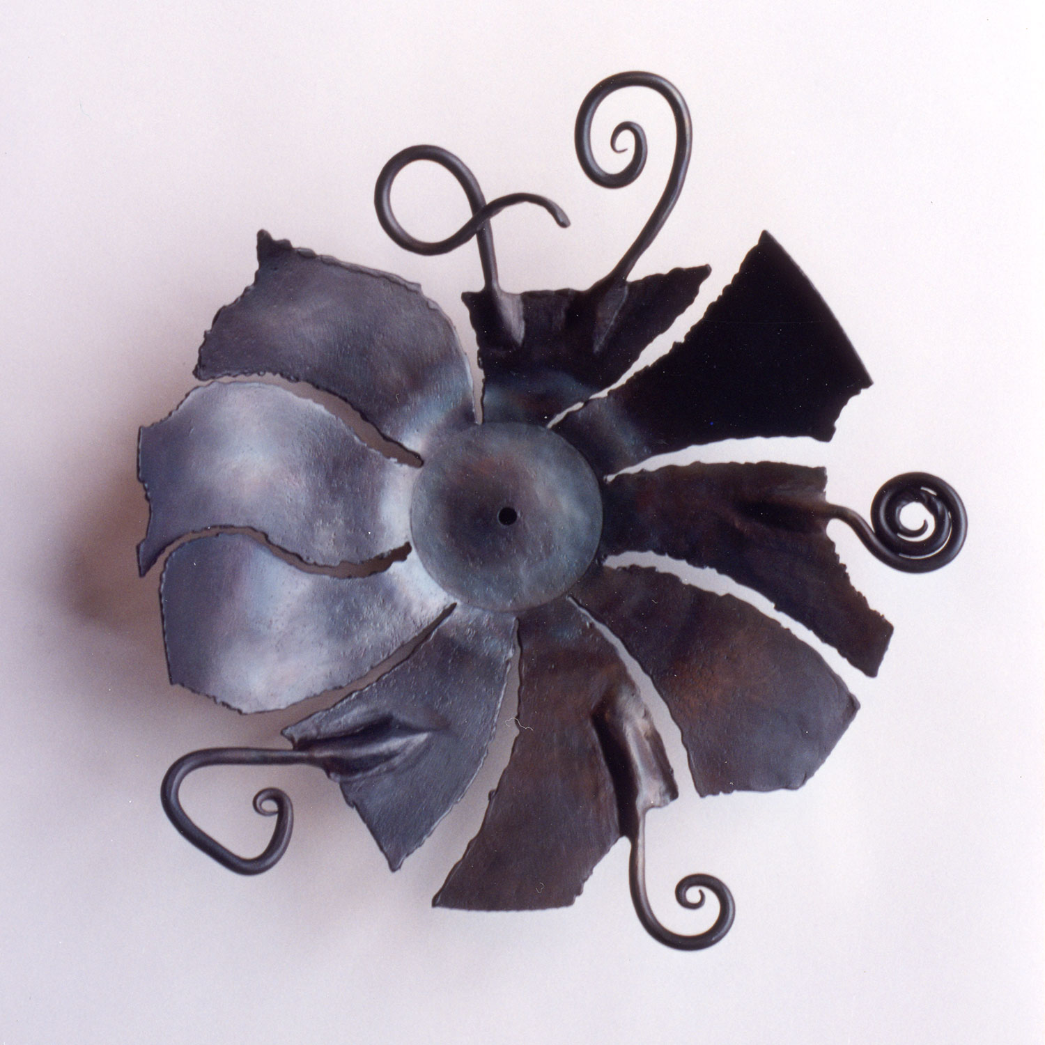 """""""Healing at the Broken Places"""" - forged iron vessel, © 1983 Catherine Jo Morgan (sold) -- CLICK ABOVE TO SEE THE ENTIRE SCULPTURE."""