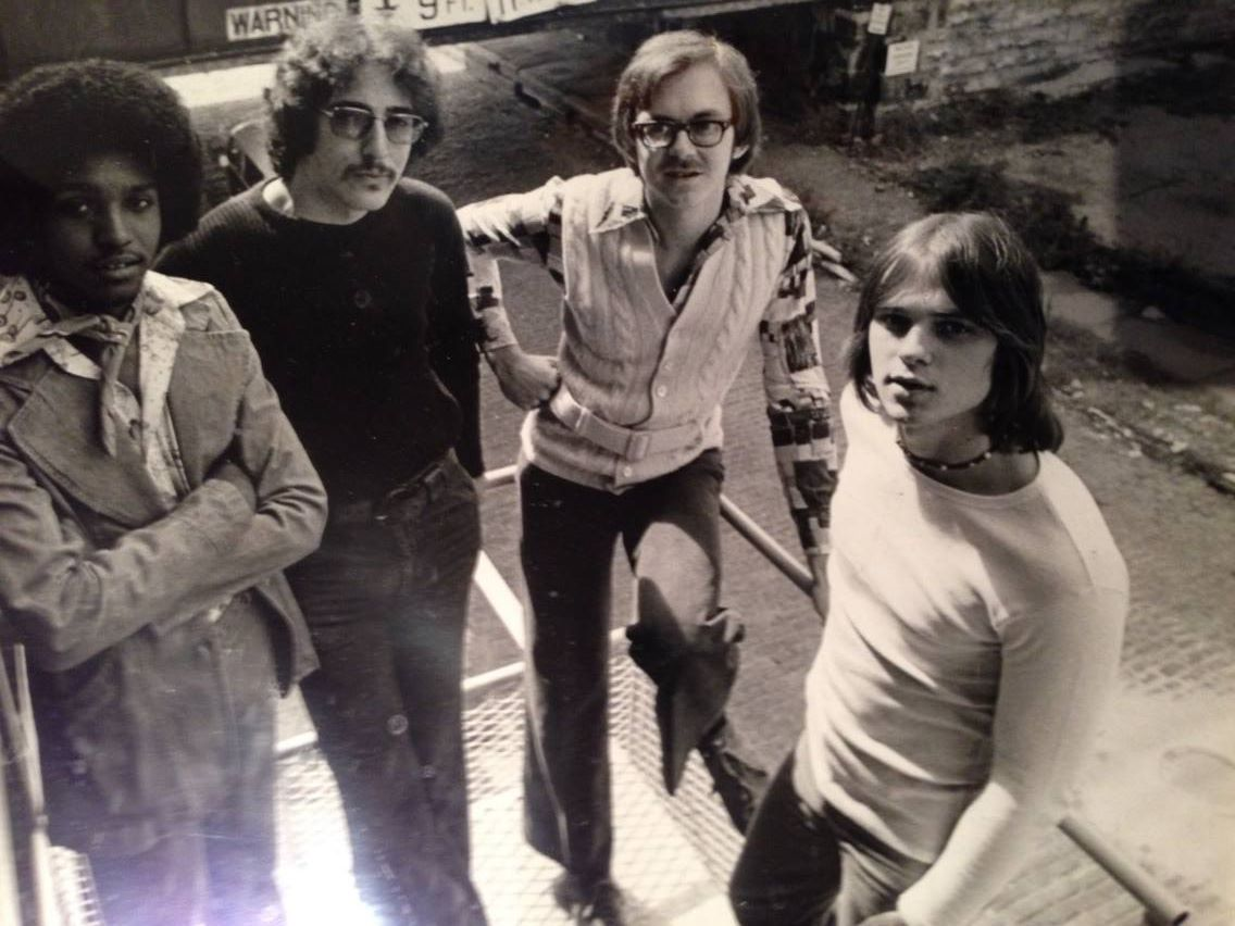 """Rainbow Glass"" mid 70's before leaving St. Louis, with Mark Friedrick,  David Boonshoft  &  Richie Daniels ."