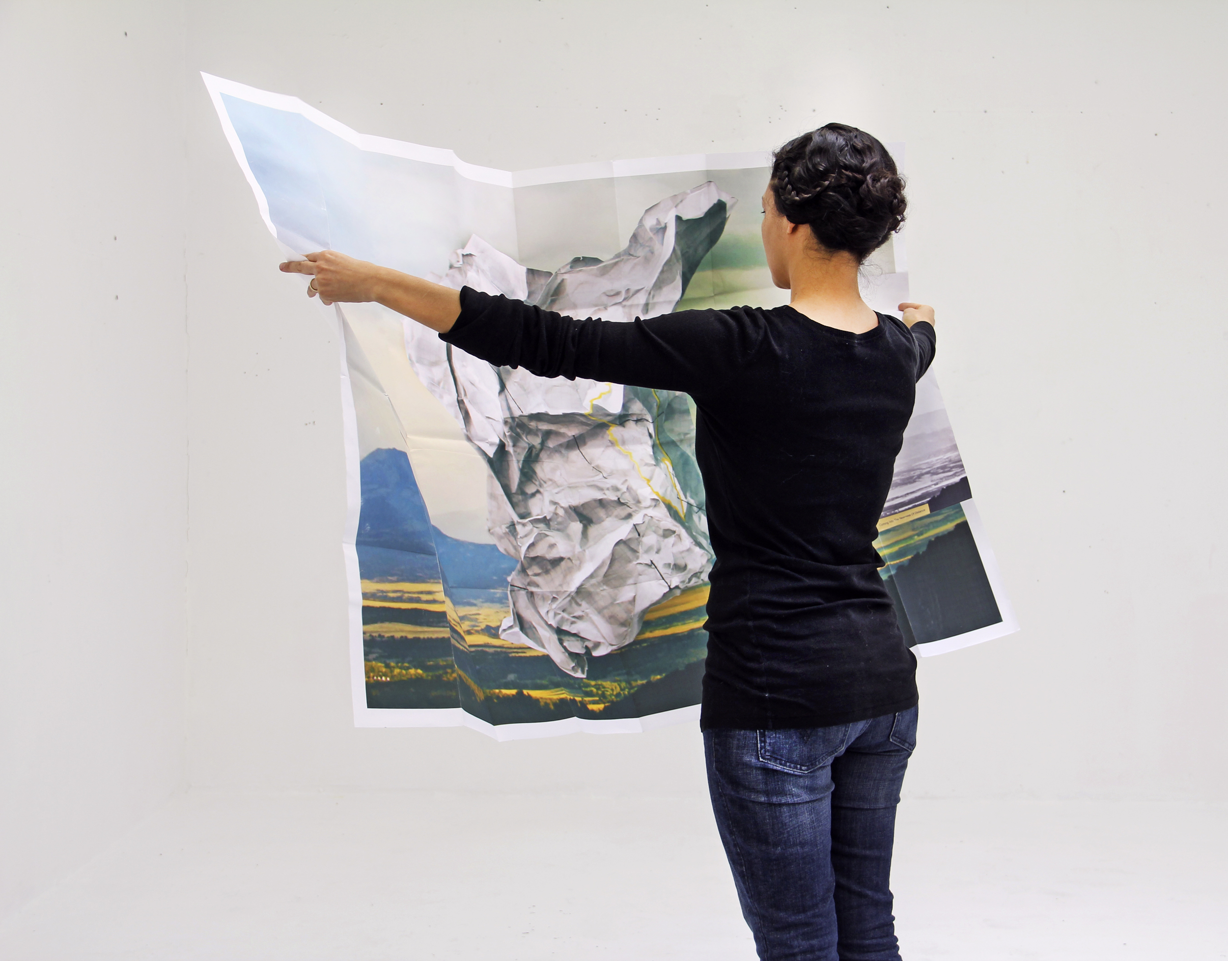 Coming Into The Nearness of Distance (Huerfano),2011  Broadside (unfolded)  60 X 42 Inches