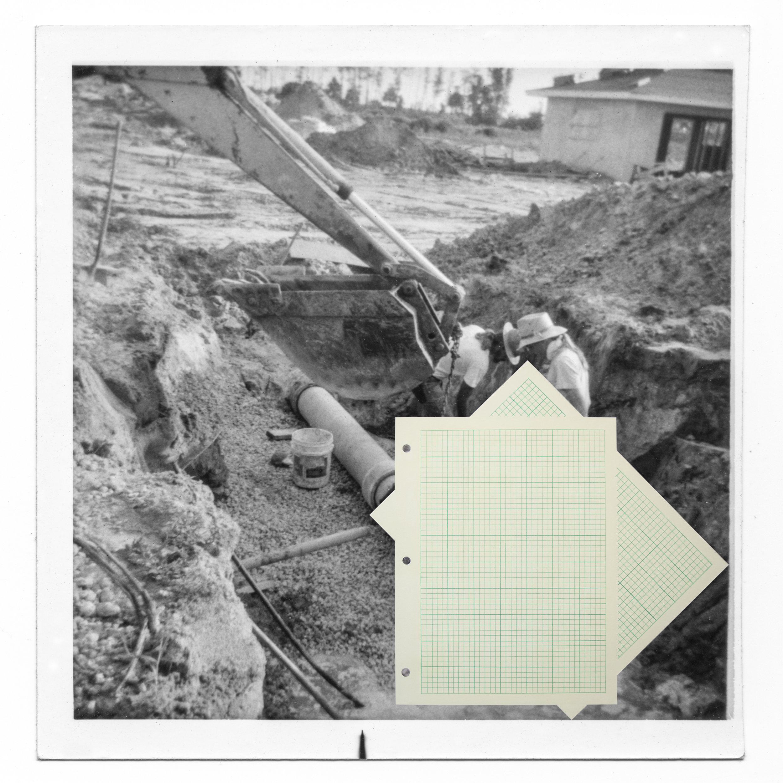 Pipeline , 2016,Hahnamuela archival inkjet paper, pastel, pencil, 30 X 30 Inches