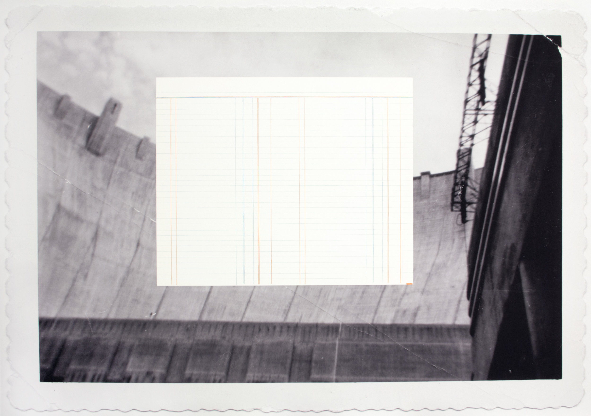 Hoover Dam  2015  Hahnamuela archival inkjet paper, pastel, pencil  34 X 24 Inches