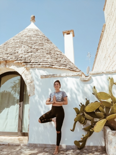 Abby at a yoga retreat in Italy
