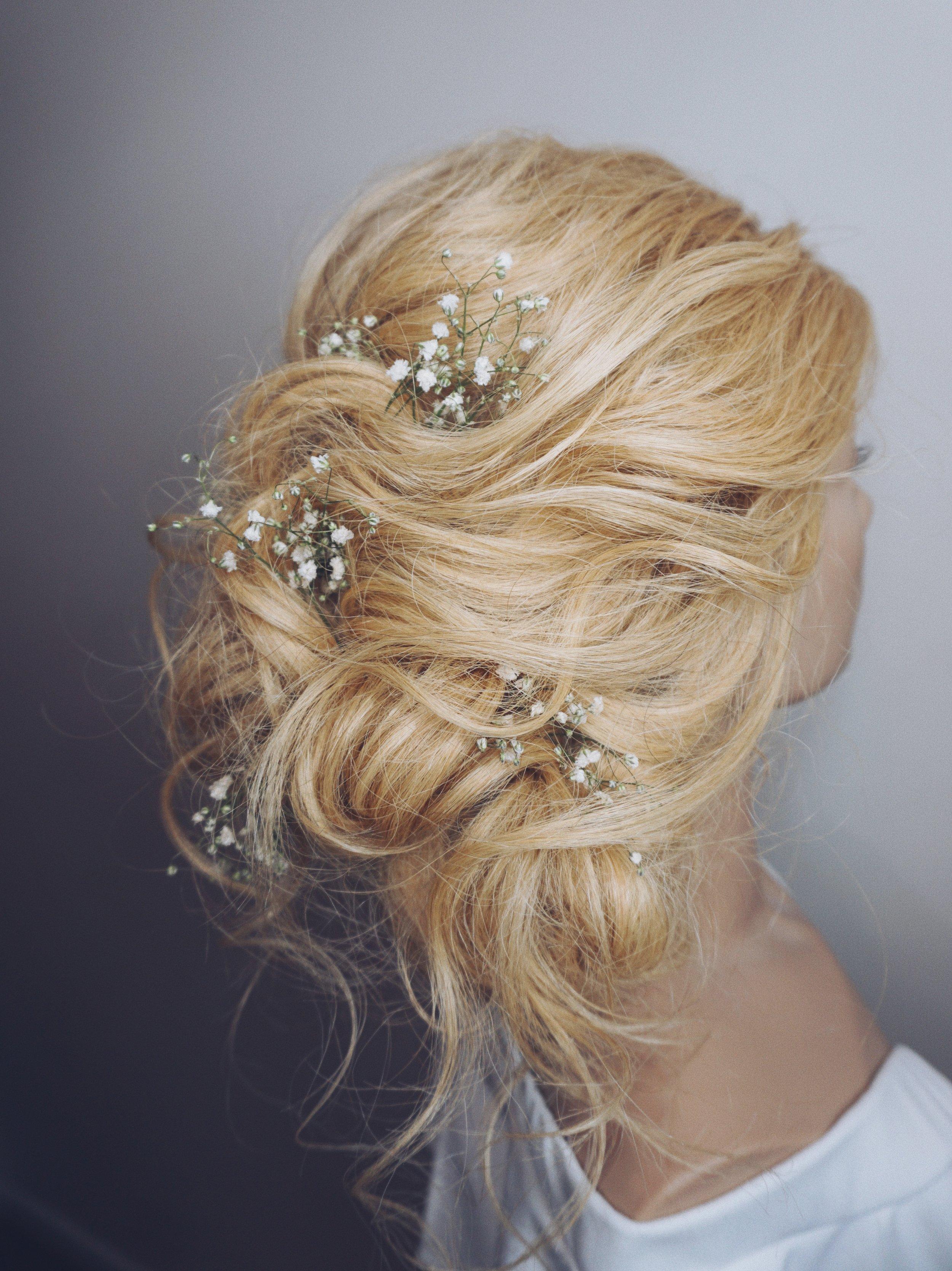 wedding hairstyle ideas updos with babysbreath