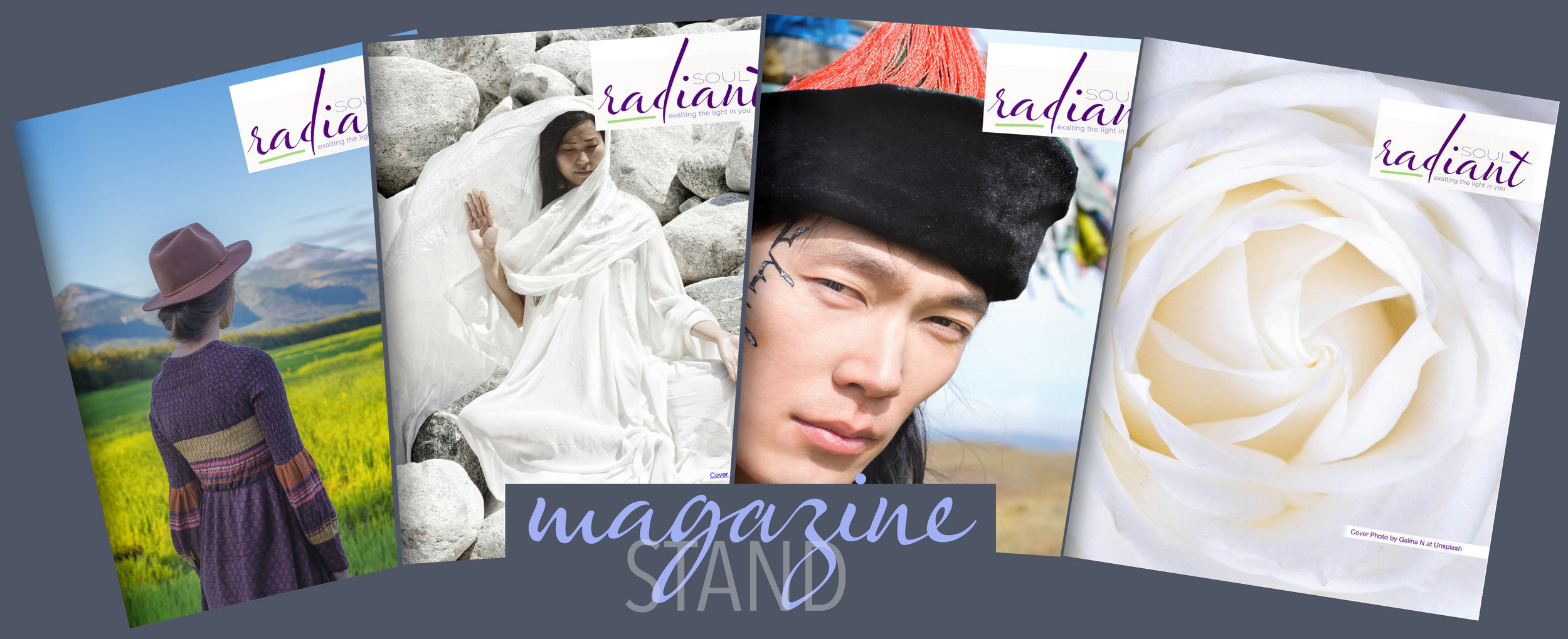 Current and future issues of radiant soul magazine