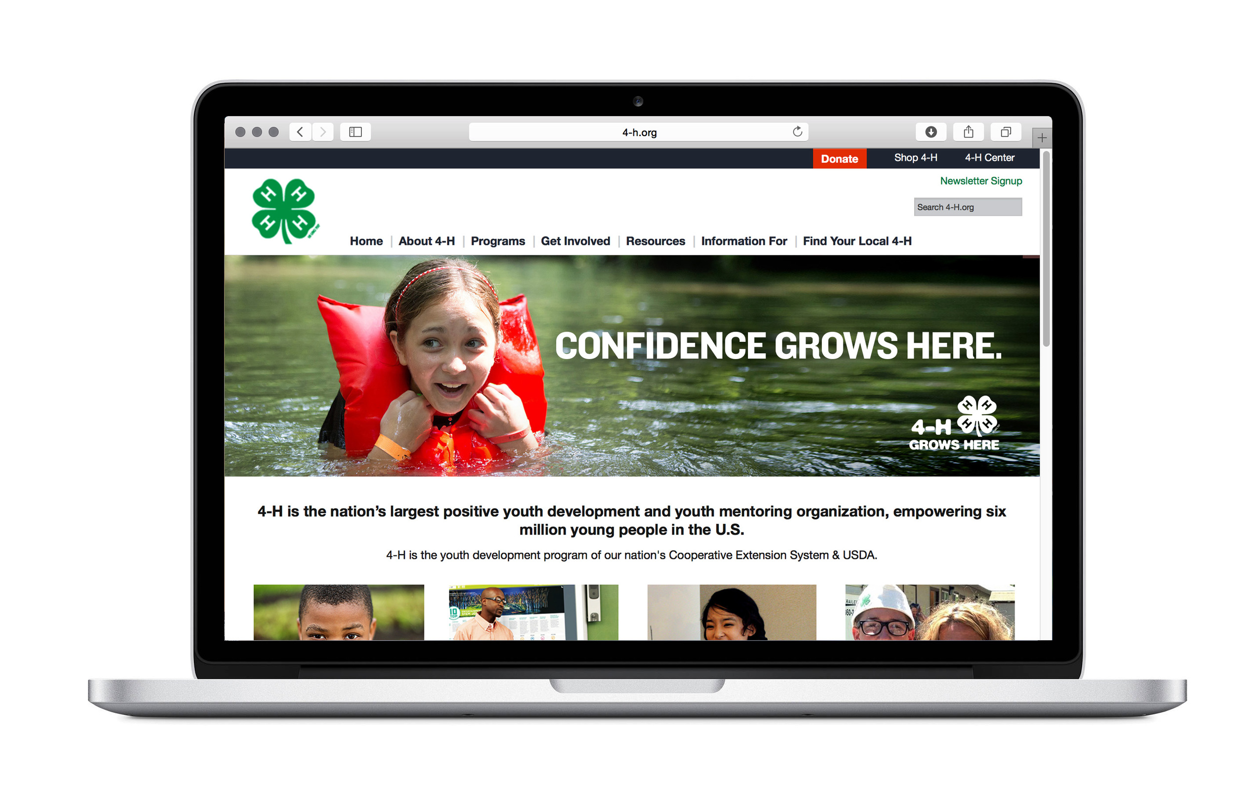 Main national website for 4H.