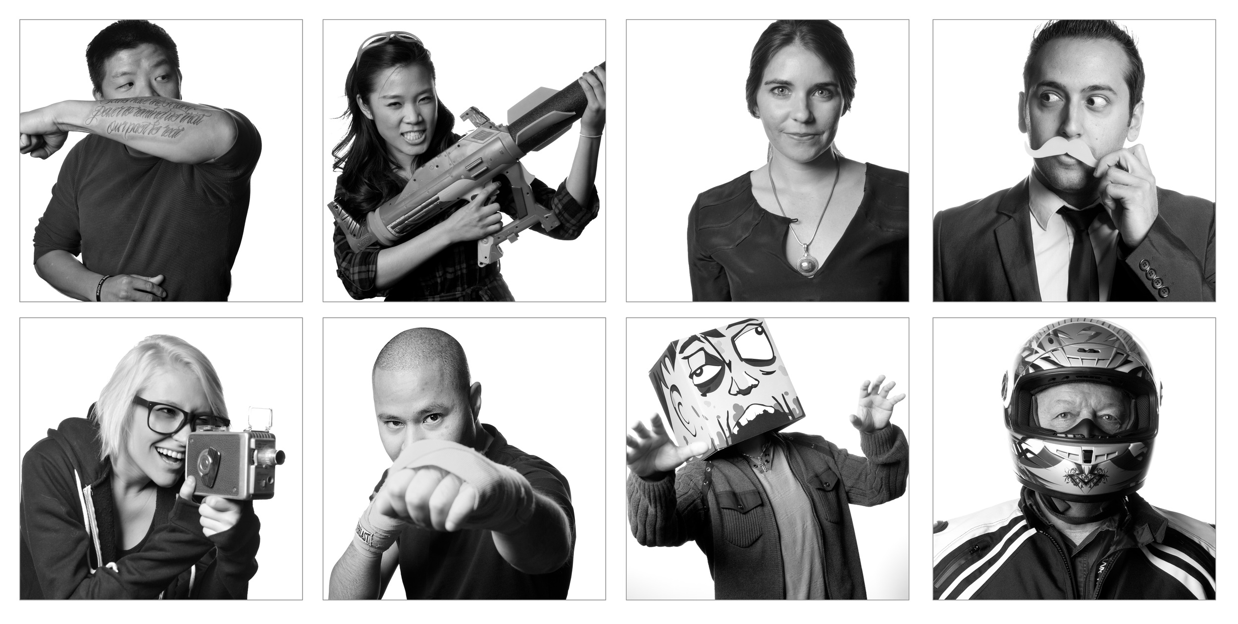 We set up a mini studio and shot portraits of every employee. There was only one mandate:Have fun. Photos by Don Lupo.