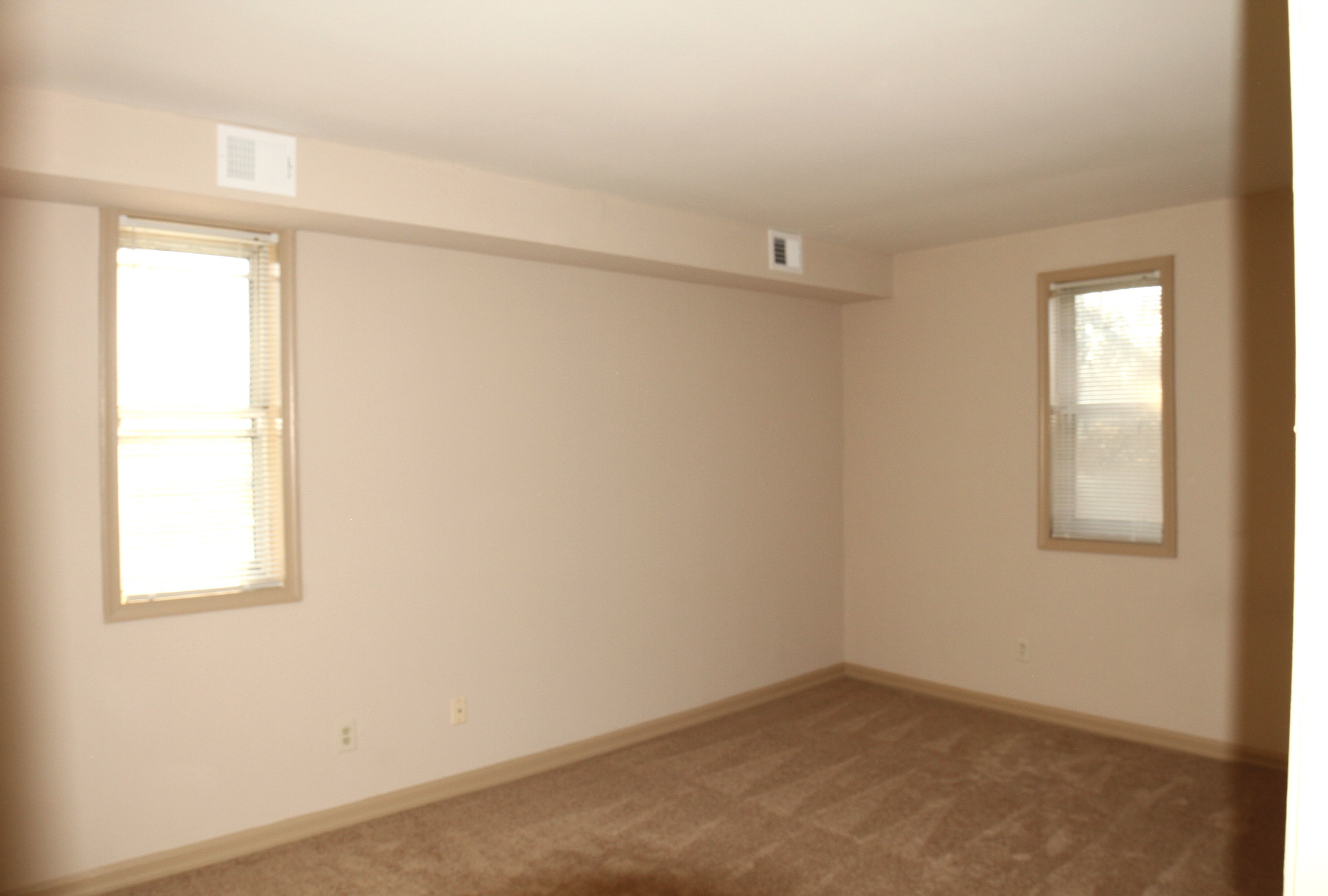 The master bedroom has two windows and ample closet space!