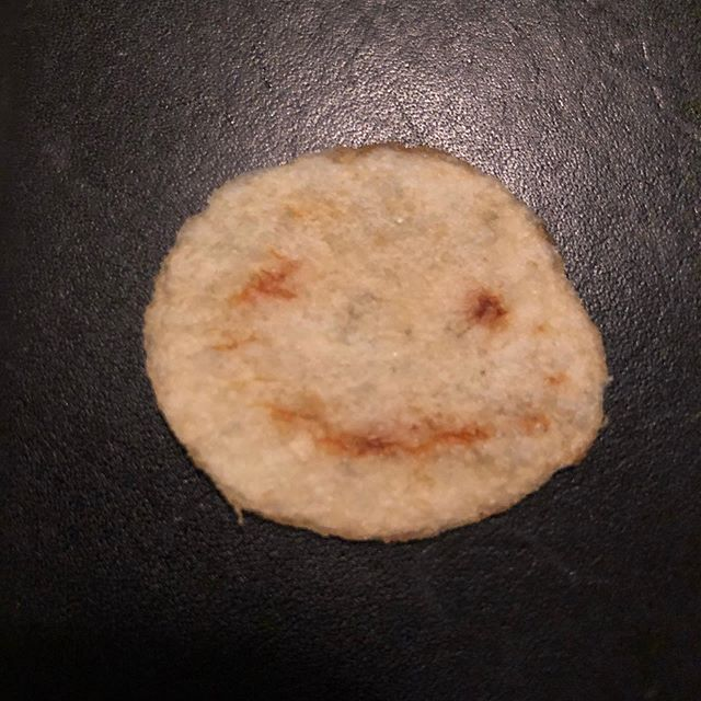 This smiling snack was in our packet the other night. Happy Chip Thursday!