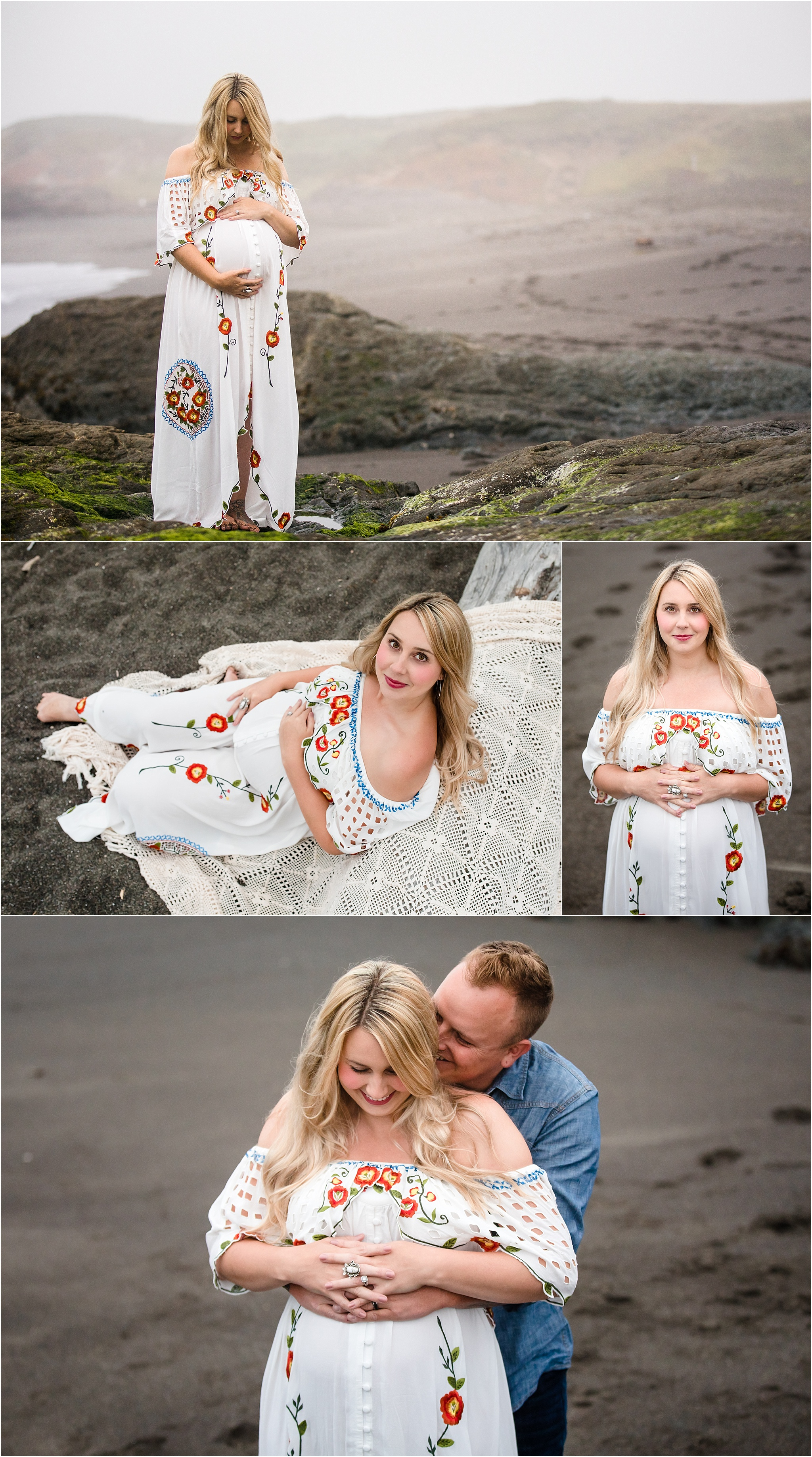 Beach Boho Maternity Session