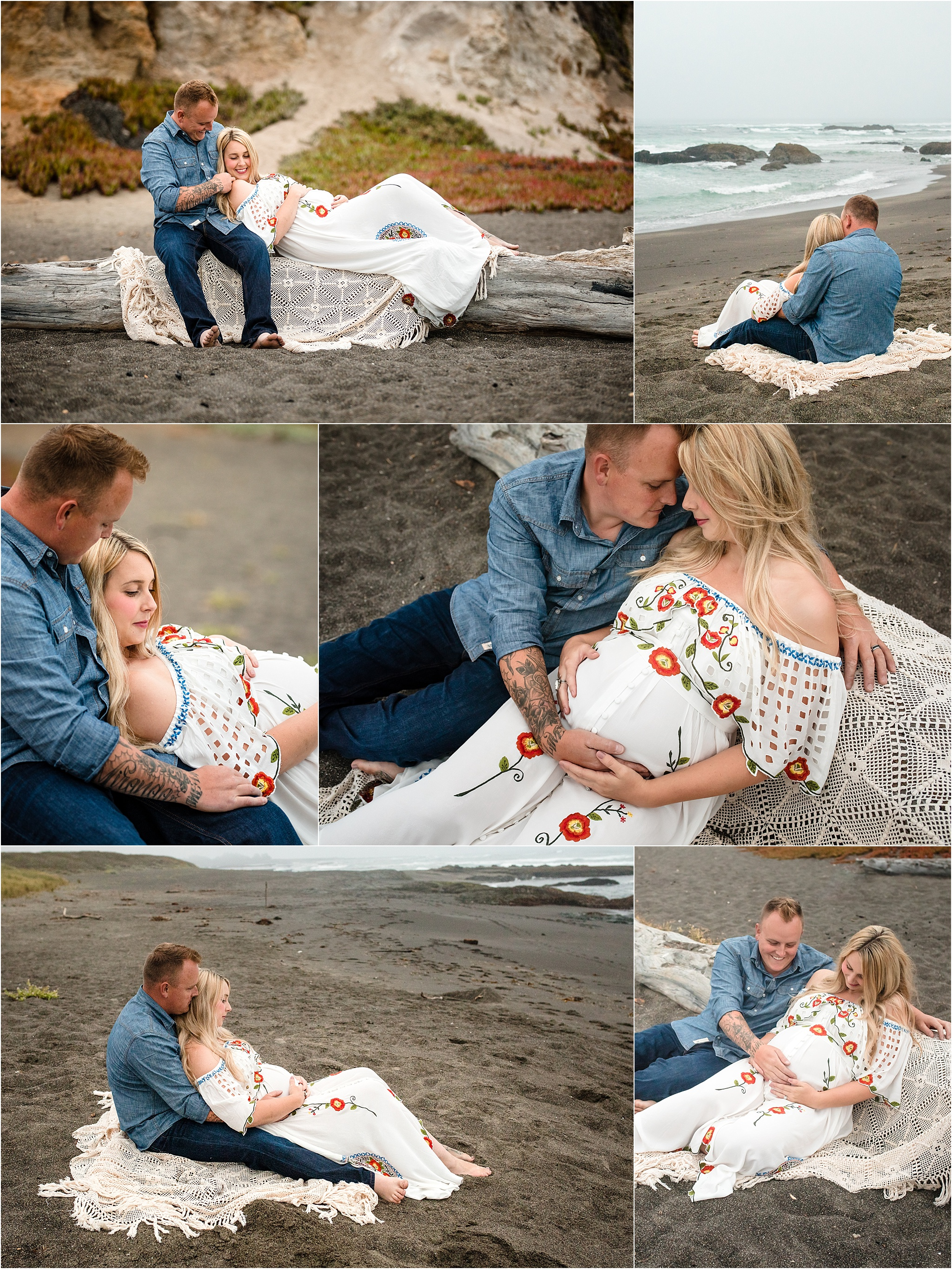 maternity session at the beach