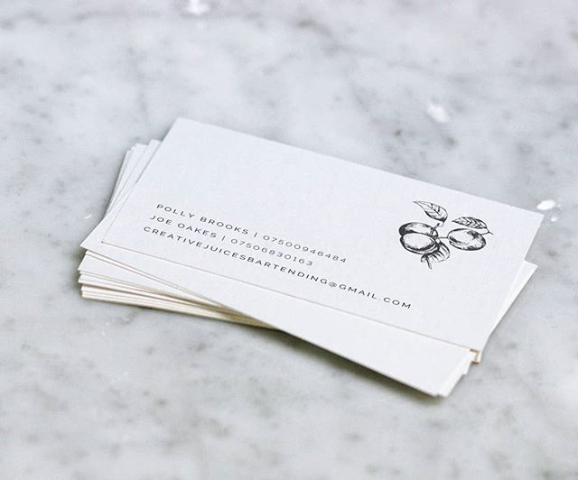 @creativejuicesbartending have made it official with some business cards - go check out their page and hit them up if you're in need of some top bartending at your next event
