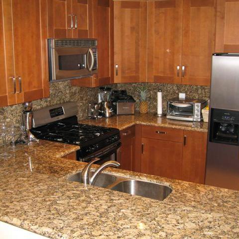 Kitchen Using Prefabricated Granite