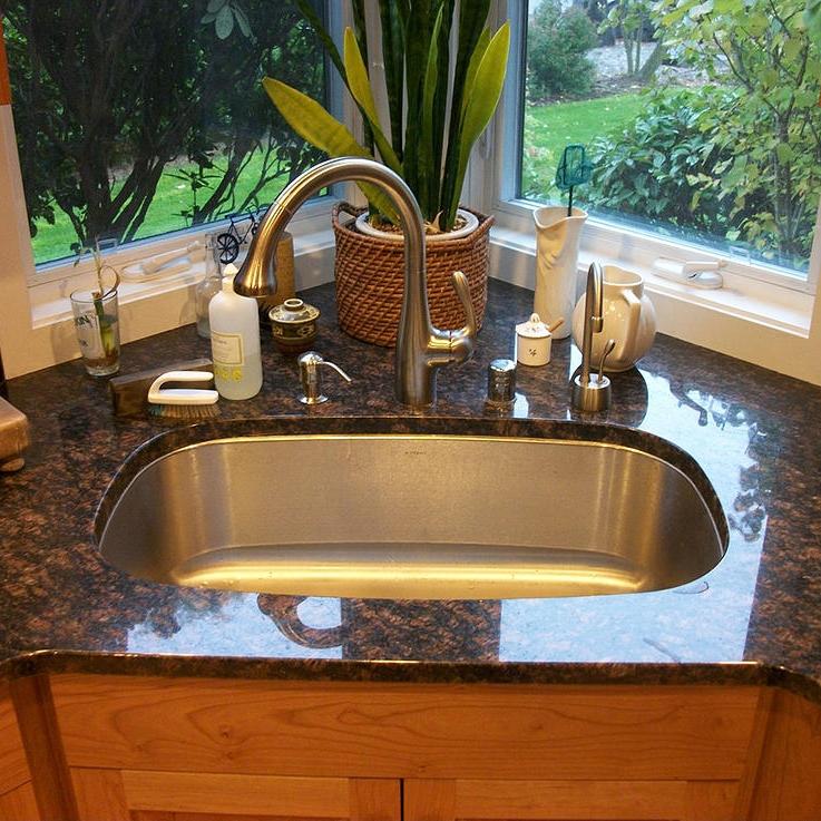 Kitchen Using Raw Slab Granite