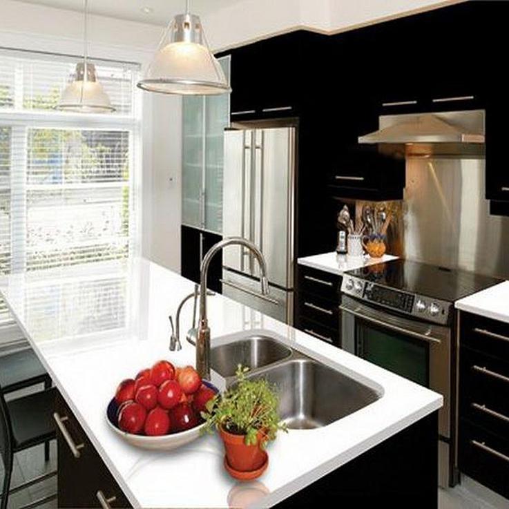 Kitchen Using Prefabricated Quartz