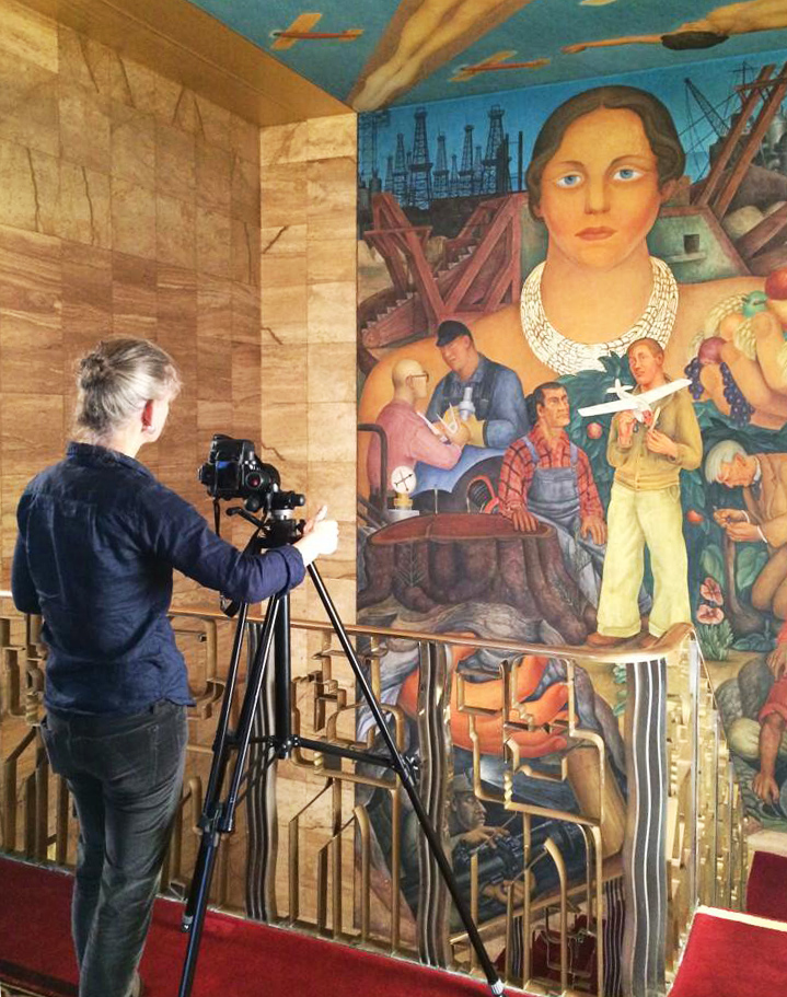 Documenting a Diego Rivera Mural at the Historic San Francisco Stock Exchange Building for OMCA + SFMoMA