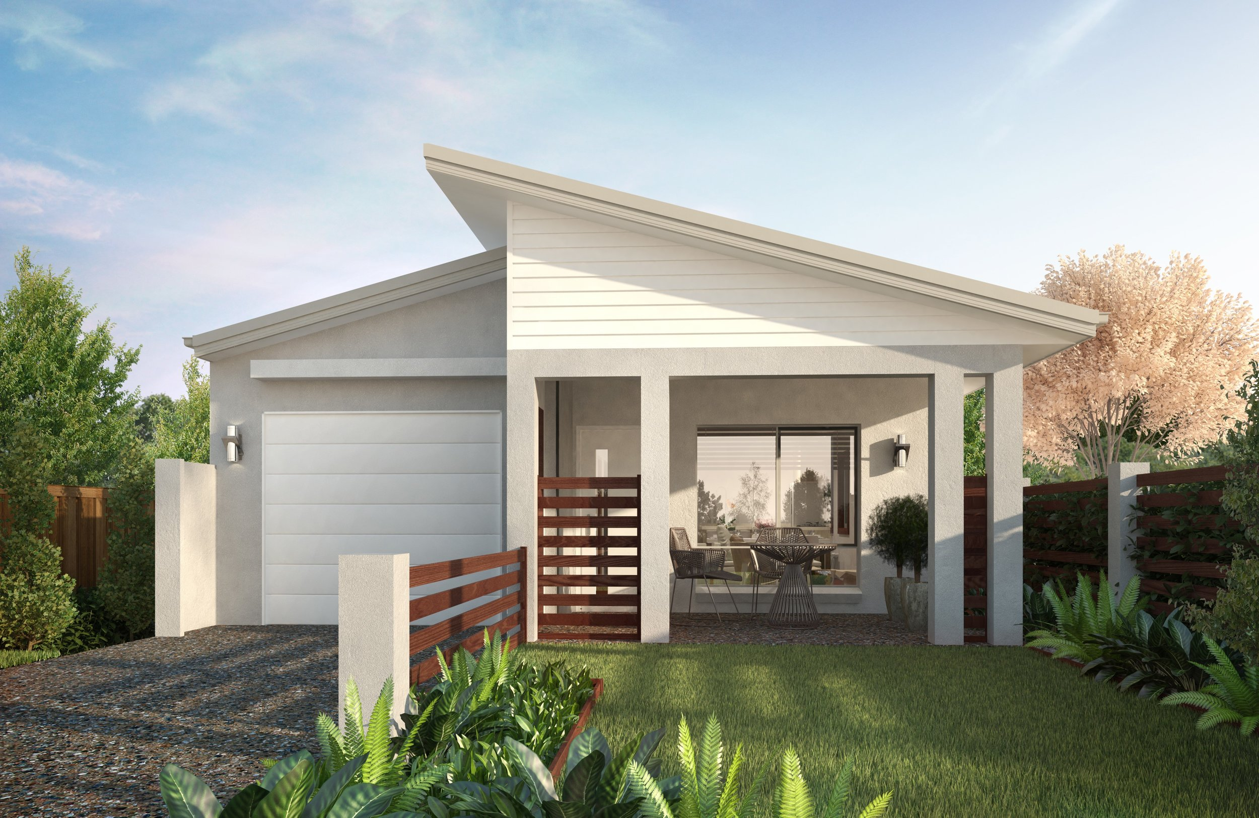 Lot 544        H & L $381,400 - 4 BED 2 BATH 1 CAR- 2700mm high ceilings- Skillion roof design- 'Smart Villa' Inclusions