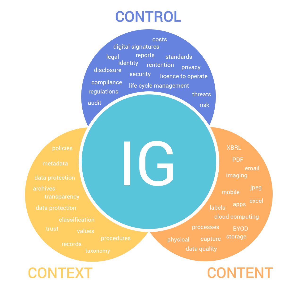 Click the image to see the components of information governance.