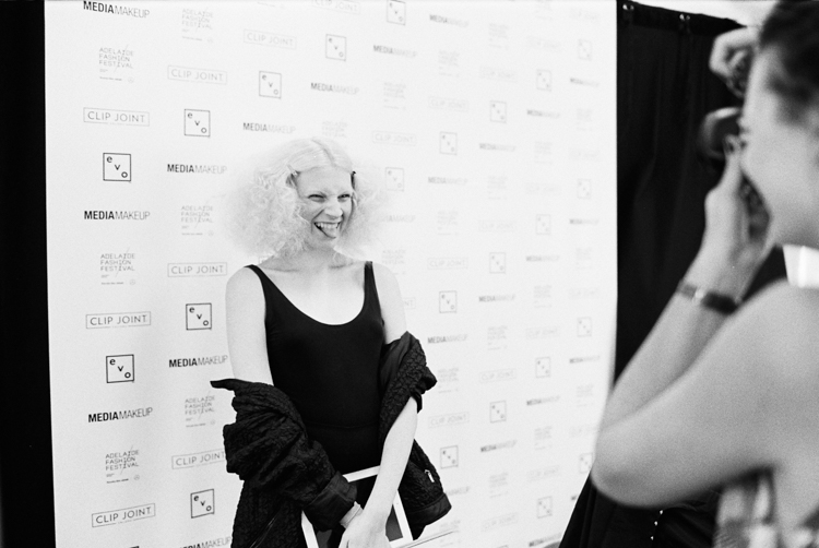 adelaide fashion festival 2016-model having her photo taken